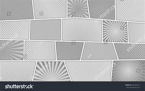 Comic Strip Monochrome Background 169 Aspect Stock Vector
