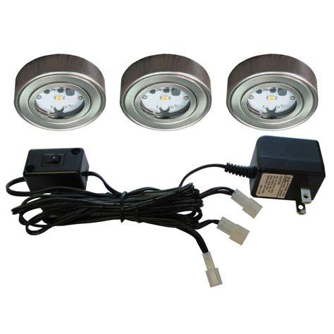 outdoor led puck lights enviro satin nickel metal led puck light 3 pack i