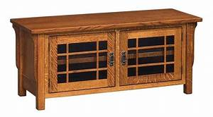 Amish Lancaster Mission TV Stand - No Drawers Tv stands