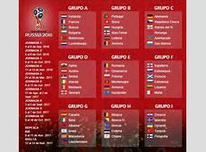 Fixture Europeo de las eliminatorias para Rusia 2018