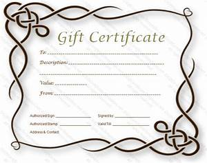 formal gift certificate template With full page gift certificate template