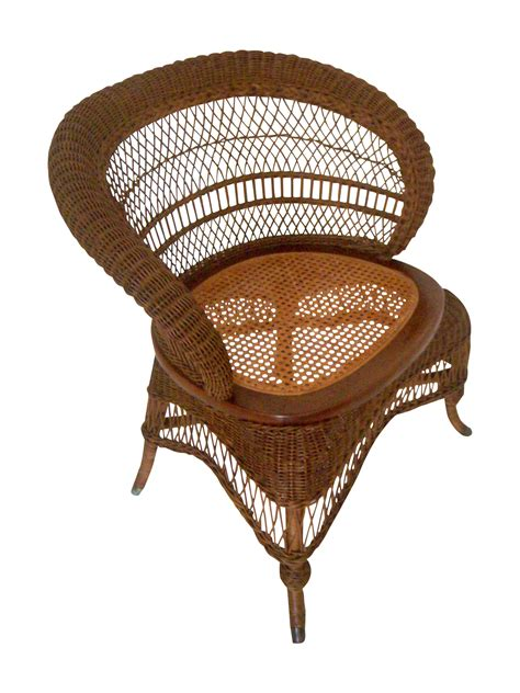 heywood wakefield wicker chair chairish