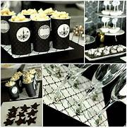 Table Decorations Black And White Theme Black And White Dessert Table