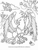 Coloring Griffin Creatures Pages Deviantart Mythical Creature Printable sketch template