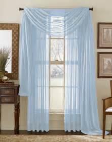 light blue sheer curtain scarf moshells