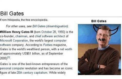 13. Bill Gates bir şeytan - Wikipedia'da yayınlanan en ...