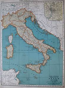 1938 Antique Map Of Italy Map Vintage 1930 U0026 39 S Travel