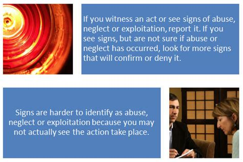 report abuse neglect  exploitation