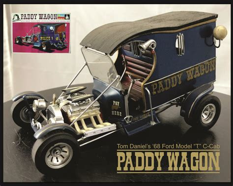 monogram paddy wagon tom daniels built  scale model plastic model kits cars model cars