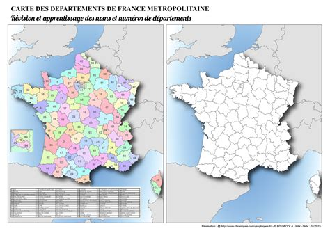 Carte De Region Et Departement Vierge by Carte De Avec D 233 Partements Et R 233 Gions 224 Imprimer