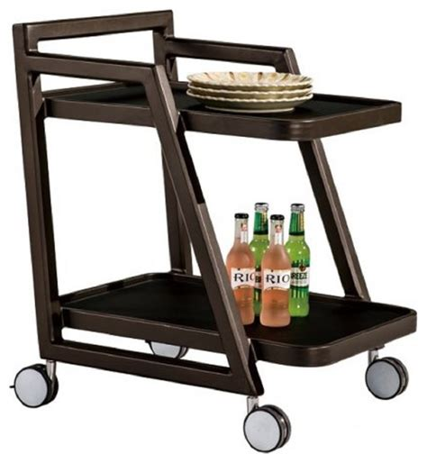 modern outdoor food and drink trolley contemporary