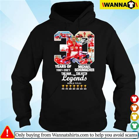 Born 3 january 1969) is a retired german racing driver who competed in formula one for jordan, benetton. 30 Years of Michael Schumacher 1991-2021 the man the myth the legends signatures shirt, hoodie ...