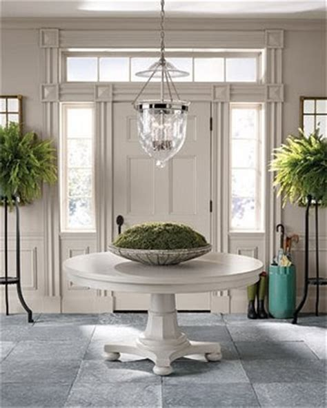 small white entry table by ozana round foyer tables