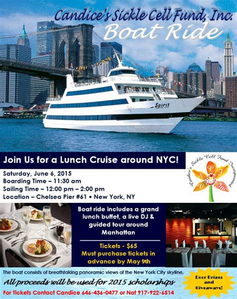 Boat Donation Nyc by Cscf Boat Ride Candice S Sickle Cell Anemia Fund Inc
