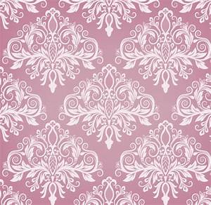 Free Pink Vintage Floral Pattern Background 02 - TitanUI