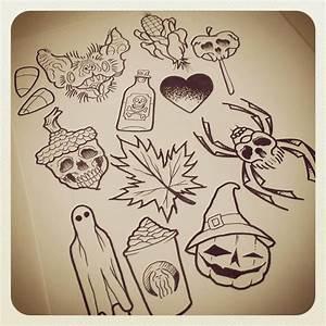 Traditional Halloween Tattoo Flash | www.pixshark.com ...