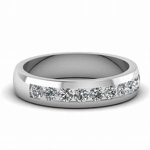 white gold round white diamond mens wedding ring in With white gold wedding rings mens
