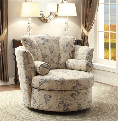 homelegance aurelia swivel accent chair with 2 pillows