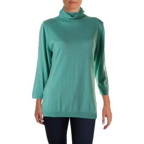 fitted sweaters for womens parkhurst 0418 womens fitted 3 4 sleeves turtleneck
