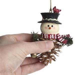 pinecone snowman ornament christmas ornaments christmas and winter holiday crafts