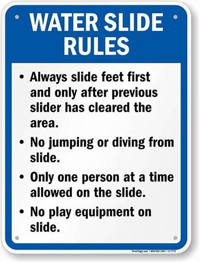 Rules Water Slide Sign Signs Arkansas Pool