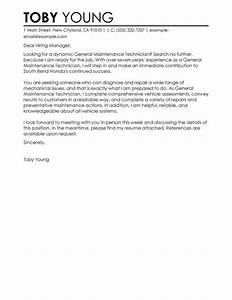 automotive technician cover letter examples job and With cover letter for automotive industry