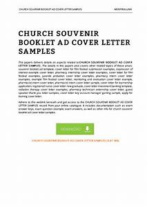 marketing cover letter examples forms and templates With church souvenir booklet template