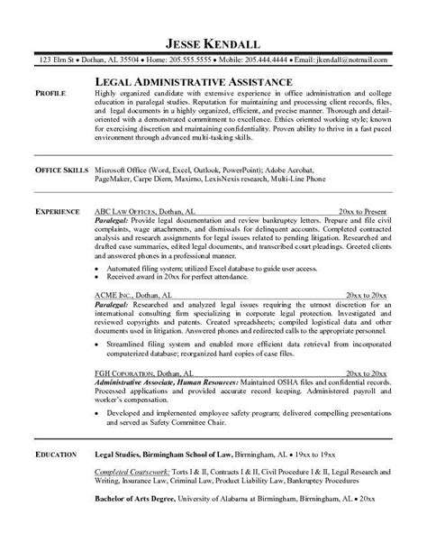 insurance defense resume listings