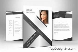 Bewerbung design vorlage topdesign24 deckblatt leben for Bewerbungsdesigns