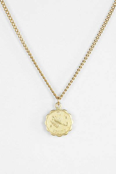 Urban Outfitters Astrology Necklace in Gold (SCORPIO) | Lyst