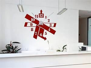 Moderne Wanduhren Wohnzimmer : wandtattoo uhr modern wandtattoo wanduhr modern ~ A.2002-acura-tl-radio.info Haus und Dekorationen