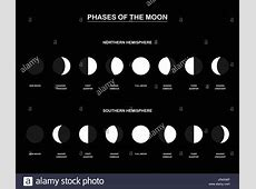 Phases Of The Moon Illustration Stock Photos & Phases Of