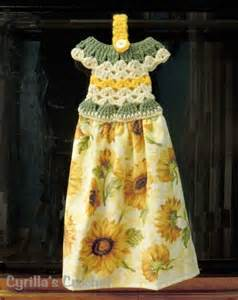 Crochet Dress Towel Topper Pattern