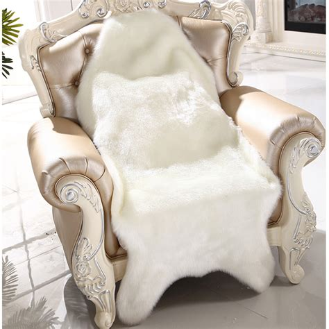 chaise fourrure artificial sheepskin fluffy fur chair seat sofa cover