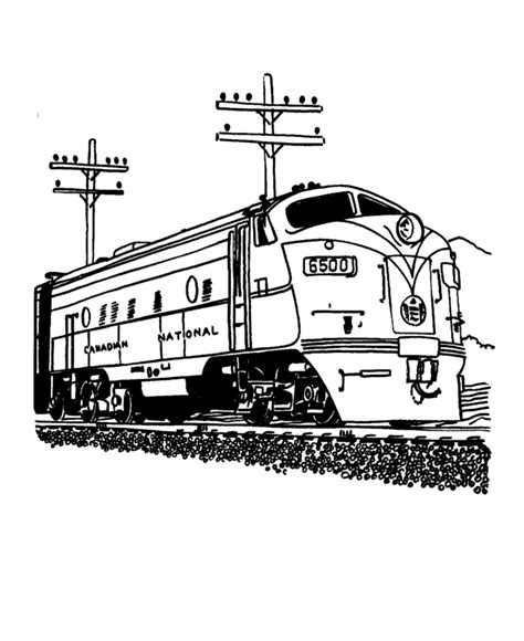 train  railroad coloring pages coloring pages color
