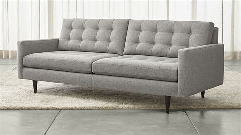 best crate and barrel sofa petrie mid century sofa crate and barrel