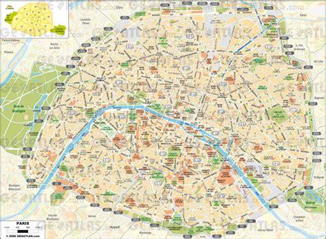 streets  paris map map  streets  paris france