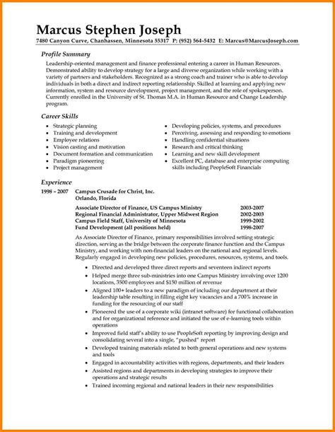 Define Resume Summary by 8 Resume Introduction Sles Introduction Letter