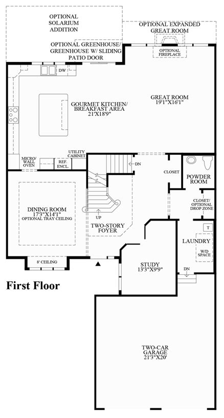 gourmet kitchen floor plans reserve at franklin lakes carriages collection the 3877