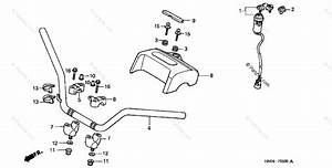 Honda Atv 1999 Oem Parts Diagram For Handlebar