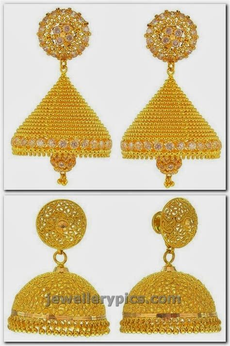 gold buttalu earrings designs  prince jewellery latest