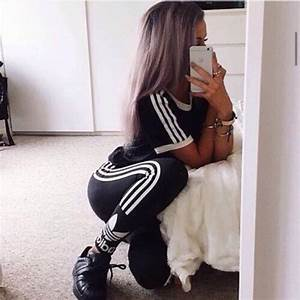 Jumpsuit outfit tumblr outfit adidas cute hot sexy workout leggings workout workout top ...