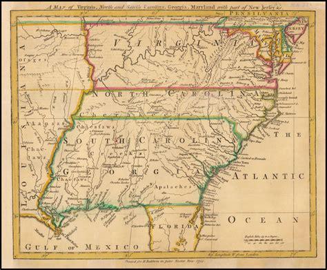map  virginia north  south carolina georgia