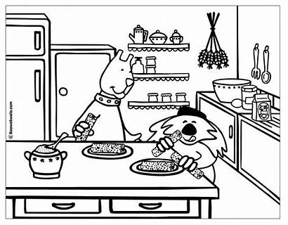 Coloring Kitchen Colorear Cocina Cuisine Dessin Cooking