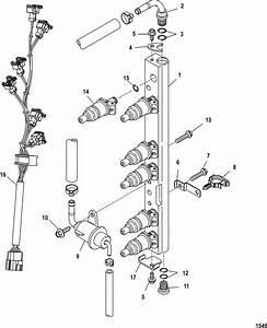 Mercury Mariner Racing 300x  3 0l Efi  Pro Max Fuel Rail Parts