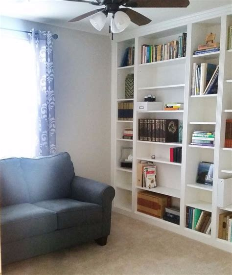 Bookcase Closet by Diy Library Wall Billy Built In Bookcases Hometalk