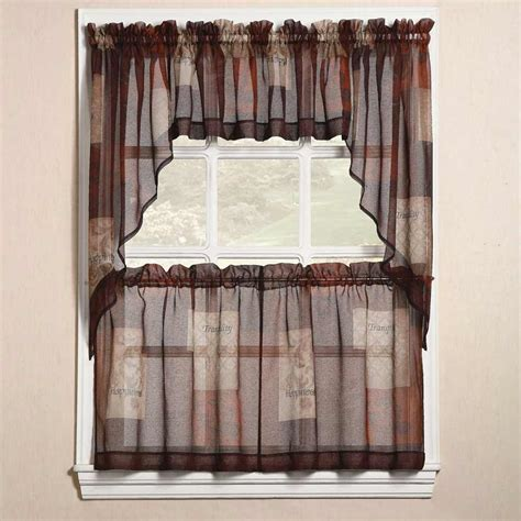 Kitchen Curtains by Kitchen Curtains And Matching Linen Curtain Design