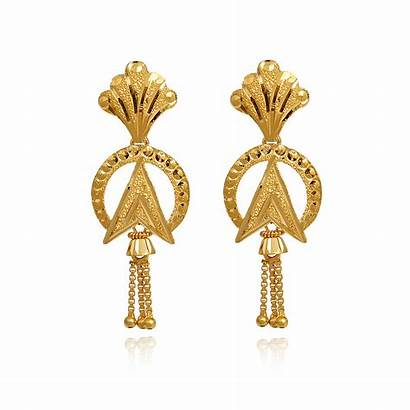 Earrings Gold Indian Stylish Jewellery Grt Weight