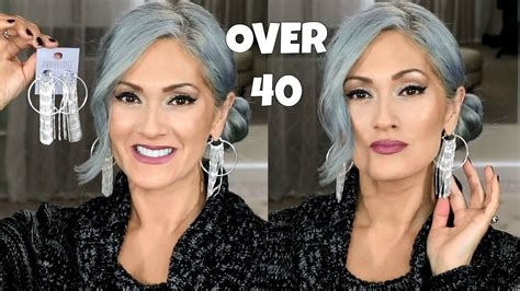 Makeup For Gray Silver Hair + Giveaway!