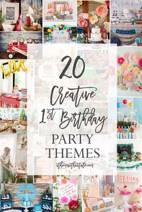 20 Creative First Birthday Party Themes  At Home With Natalie